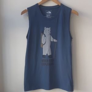 The North Face Polar Bear Muscle Tank Top Blue S